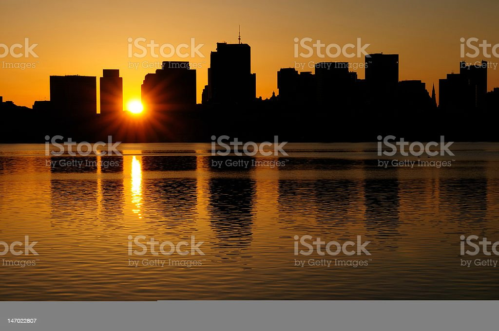 City Sunrise royalty-free stock photo
