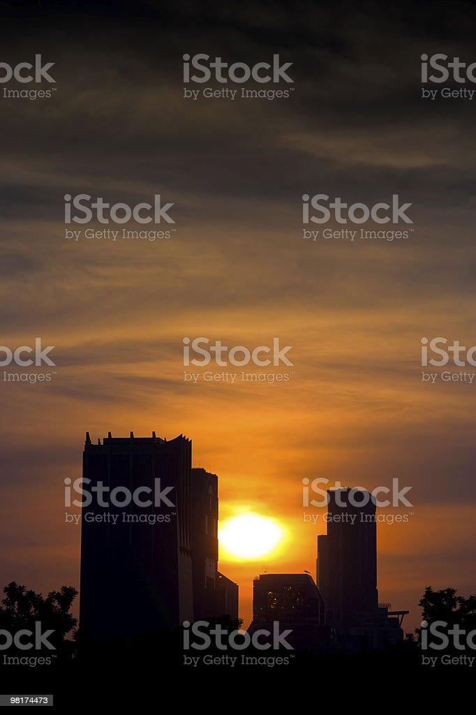 도시 해질녘까지 royalty-free 스톡 사진