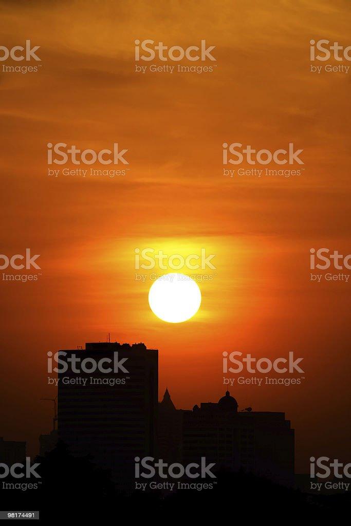 City Sunset royalty-free stock photo