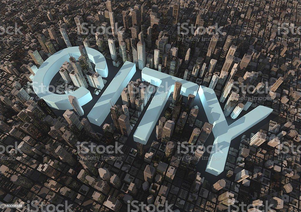 Stadt-text – Foto