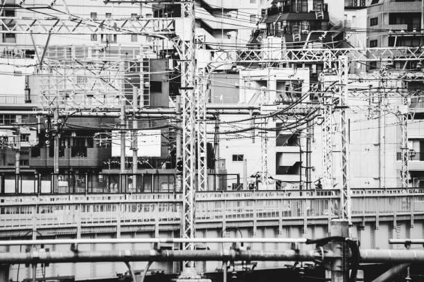 City textures - Tokyo, Japan stock photo