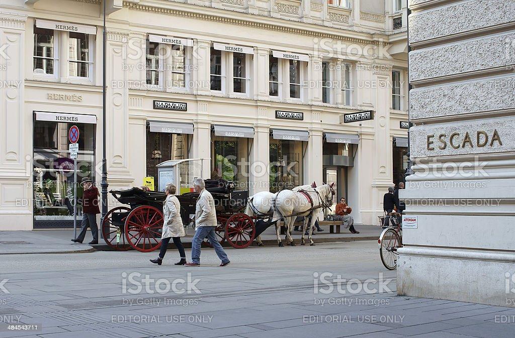 City Tour Vienna stock photo