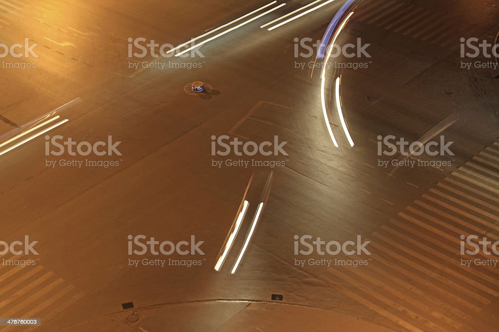 city traffic at night royalty-free stock photo