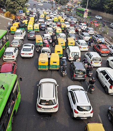 City Traffic in India
