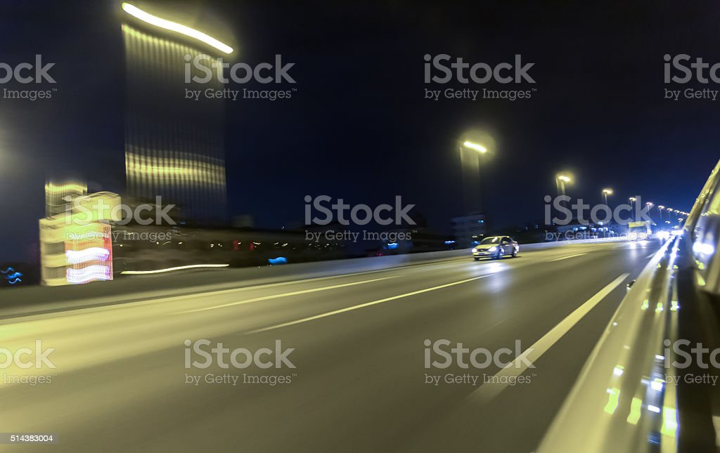 City Traffic Night stock photo