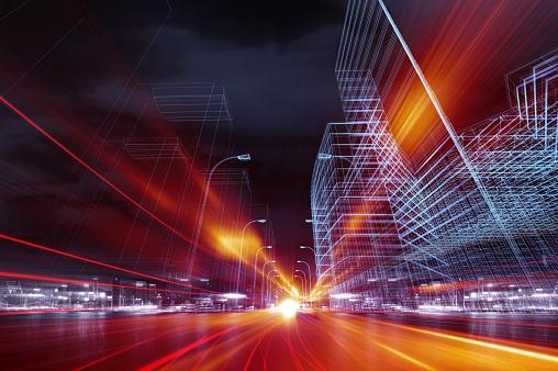 istock City traffic of future 1132458364