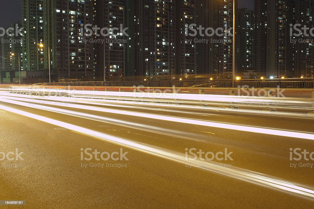City traffic of Guangzhou royalty-free stock photo