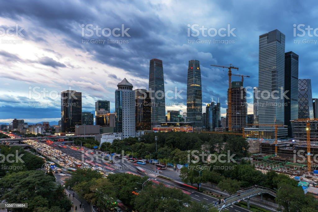 City traffic stock photo