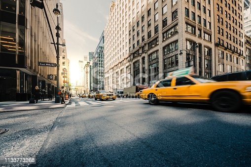 NY Taxi, City traffic in Manhattan