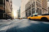 NY Taxi, City traffic in Manhattan