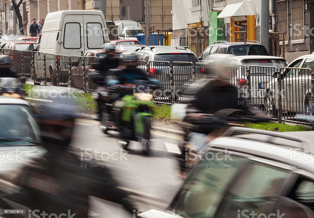 city traffic street foto stock royalty-free