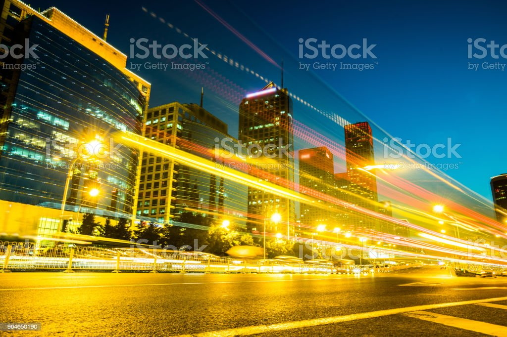 City traffic with bus tail light at night royalty-free stock photo