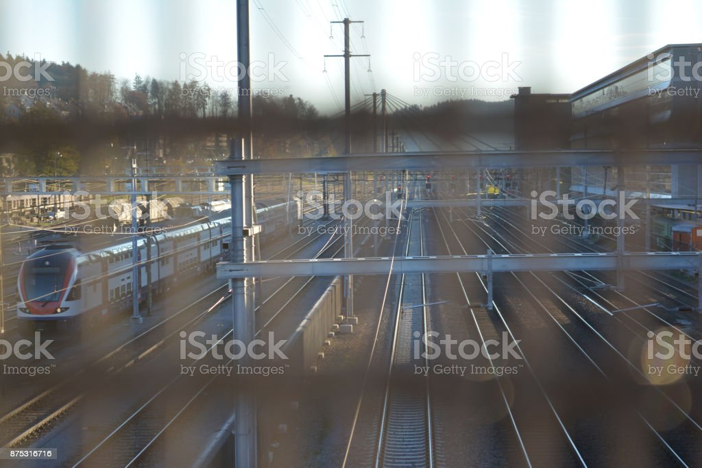 City Train Station stock photo