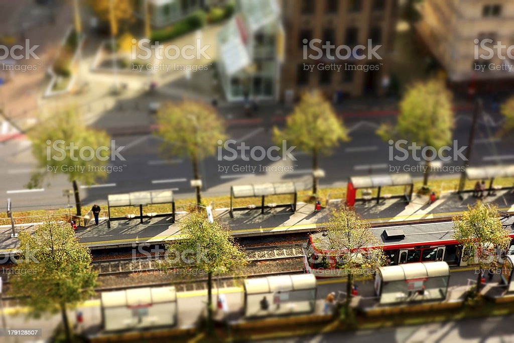 City Train - Tilt & Shift royalty-free stock photo