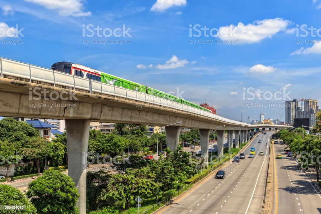City Transportation in Bangkok stock photo