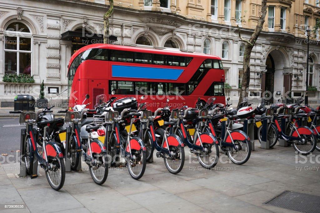 City transportation in London stock photo