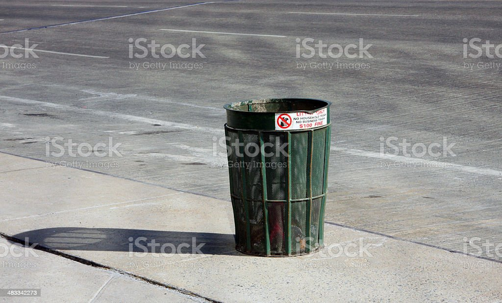 City Trash Can, with potential stock photo