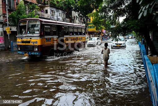 Many parts of central and north Kolkata got waterlogged due to heavy downpour that started on wednesday night and continued all throughout the next day. Authorities are working overtime to clear the roads of stagnant water.