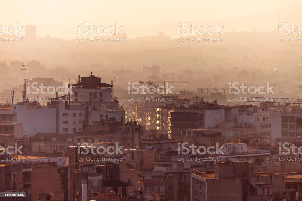 City view - Athens, Greece stock photo