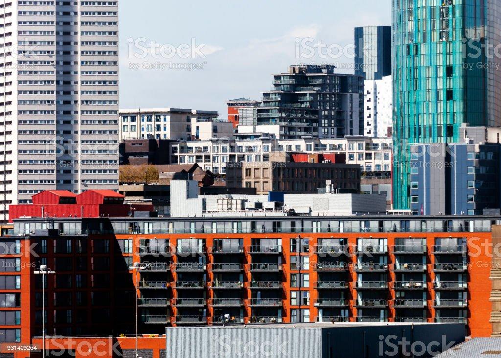 City view - Birmingham, UK stock photo