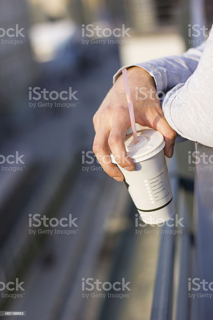City view, Coffee break royalty-free stock photo