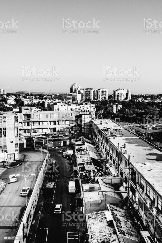 City view - Florentin, Tel Aviv, Israel stock photo