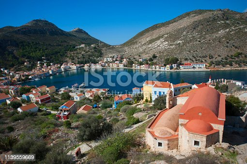 City view from Kastellorizon, Greece
