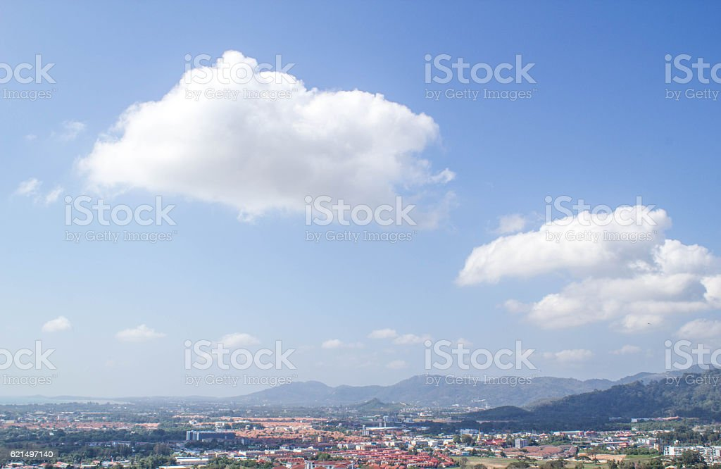 city view from the top hill of Phuket,Thailand photo libre de droits