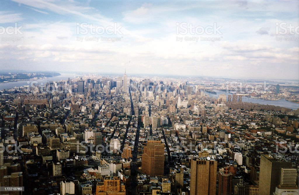 City view from world trade center royalty-free stock photo