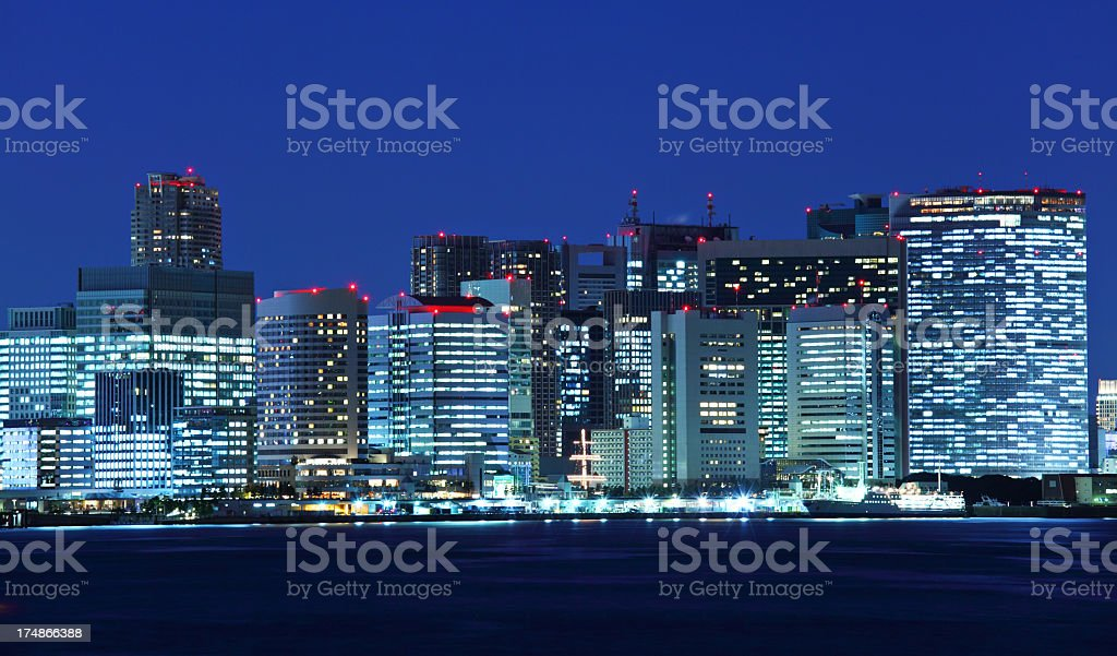 city view in tokyo stock photo