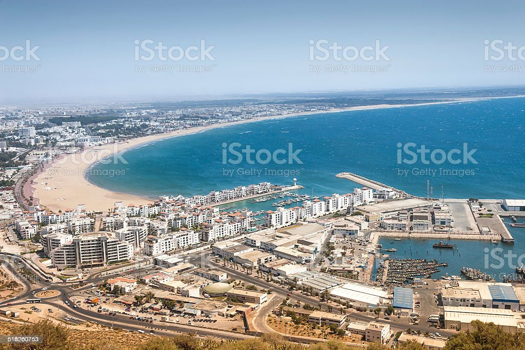 City view of Agadir, Morocco foto