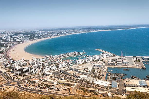 Vista a la ciudad de Agadir, Marruecos - foto de stock