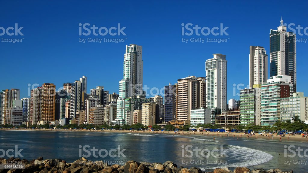 City View of Balneario Camboriu, Santa Catarina, Brazil stock photo