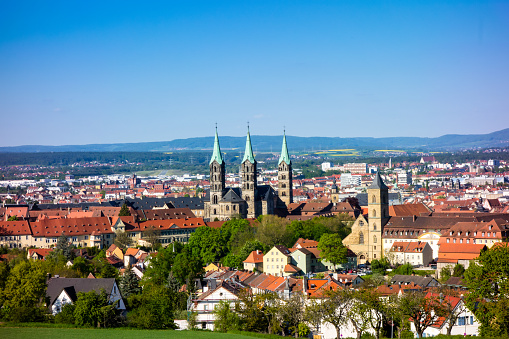 City view of Bamberg with Dom in Bavaria Germany