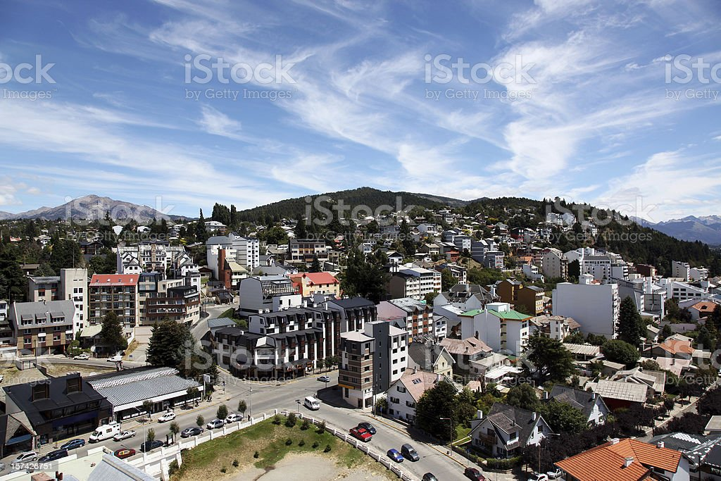 City view of Bariloche, Argentina stock photo