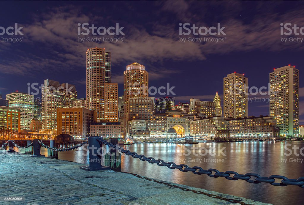 city view of Boston, Massachusetts, USA stock photo