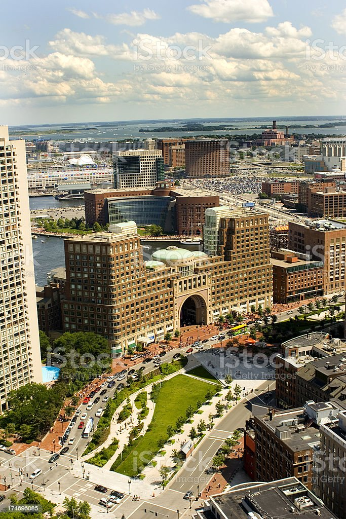 City View of Boston stock photo