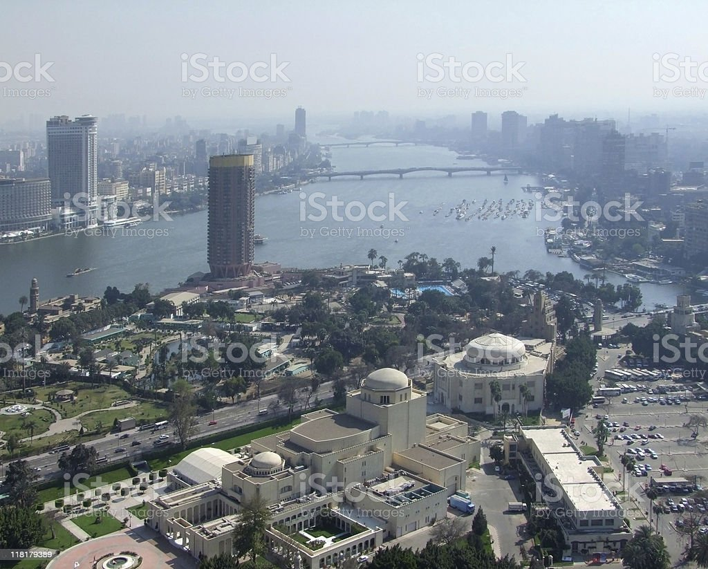 City view of Cairo from Gezira royalty-free stock photo