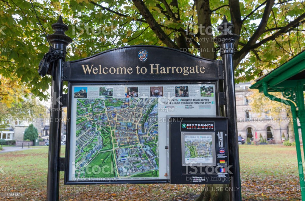 city view of Harrogate in North Yorkshire England stock photo