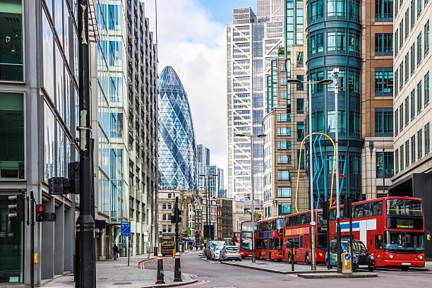 City View of London around Liverpool Street station stock photo