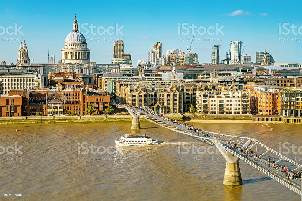 City view of London stock photo