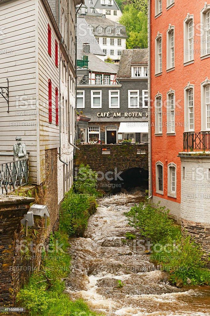 City view of Monschau royalty-free stock photo
