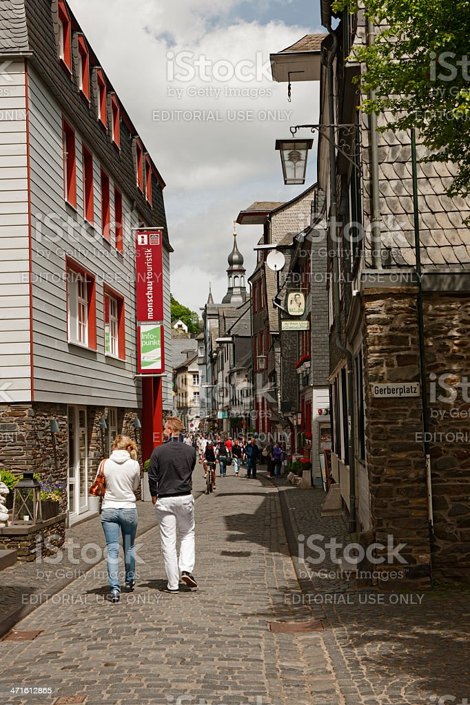 City View of Monschau royalty-free stock photo