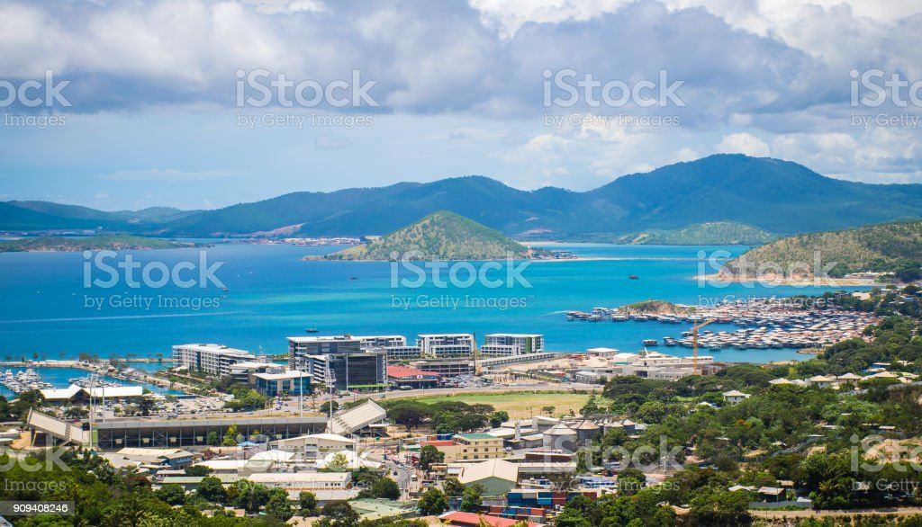 City view of Port Moresby stock photo