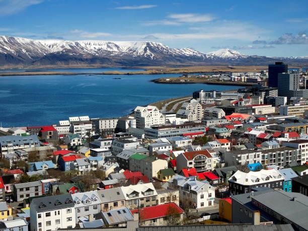 City View of Reykjavik, Iceland stock photo