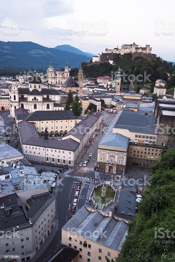 City view of Salzburg, Austria stock photo