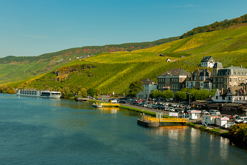 City view of Traben-Trarbach on the Moselle