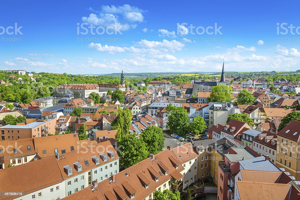 City view of Weimar, Germany stock photo