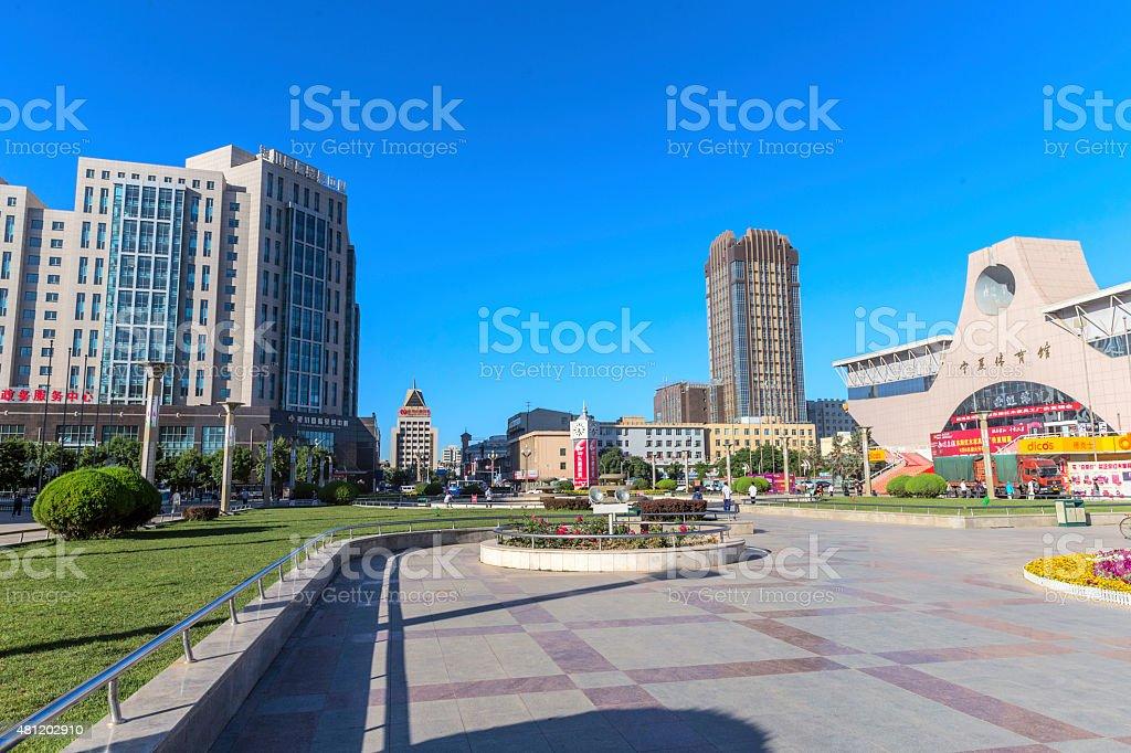 City view of  Yin Chuan, Ningxia, China stock photo