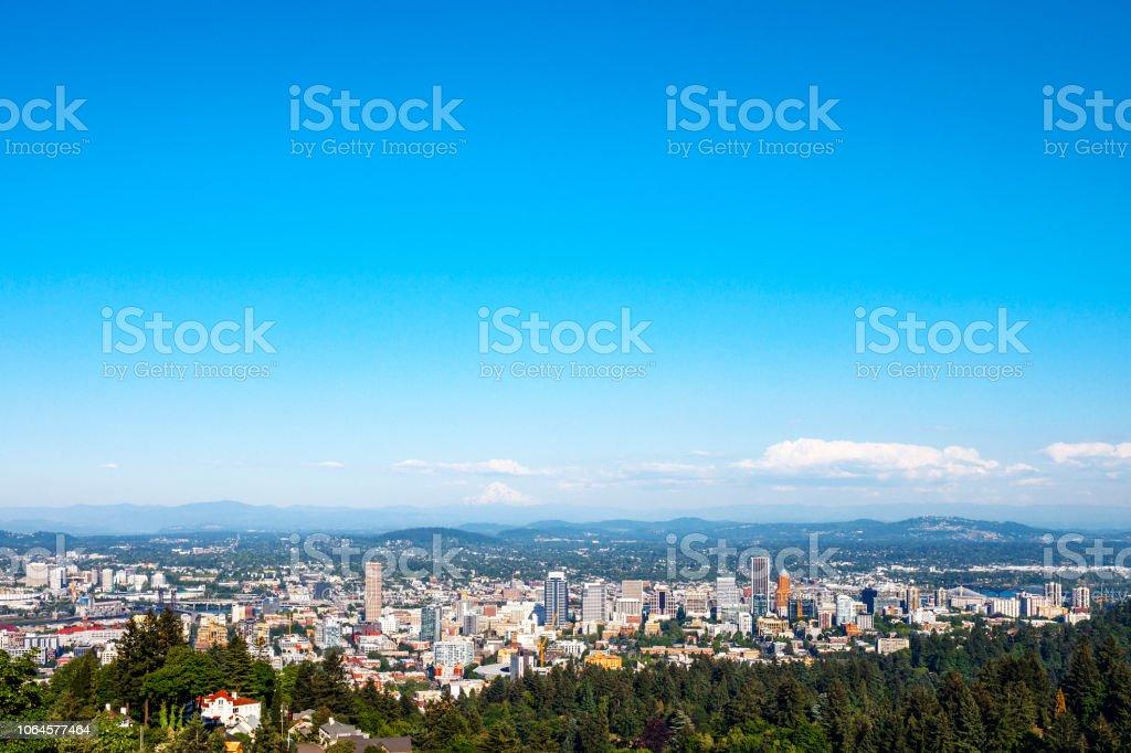 City view - Portland, Oregon stock photo